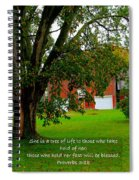 Tree With Scripture Spiral Notebook