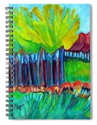 Trees And Meadow Spiral Notebook