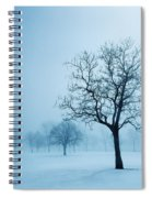 Trees And Snow In Fog, Toronto, Ontario Spiral Notebook