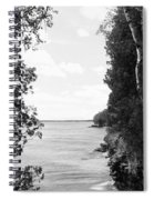 Trees At The Lakeside, Cave Point Spiral Notebook