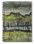 Trees By A Stream Spiral Notebook