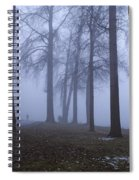 Trees Greenlake With Man Walking Spiral Notebook