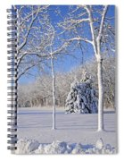 Trees In Snow  Wisconsin Spiral Notebook