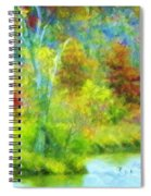 Trees In Spring On A Lake Spiral Notebook