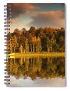 Trees Lining The Waters Edge Reflected Spiral Notebook