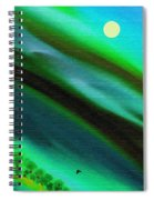 Trees Near The Lake Spiral Notebook