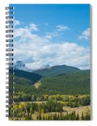 Trees On Canadian Rockies Along Route Spiral Notebook