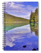 Trees Reflected At Valley Of The Five Lakes Spiral Notebook