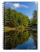 Trees Reflected On Mirrored Lake  Spiral Notebook