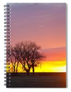 Trees Watching The Sunrise Panorama View Spiral Notebook