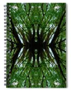 Treetops Abstract Spiral Notebook
