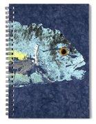 Gyotaku Trevally Spiral Notebook