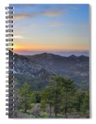 Trevenque Mountain At Sunset  2079 M Spiral Notebook