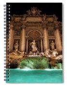 Trevi Fountain Illuminated At Nighttime Spiral Notebook