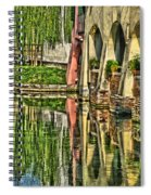 Treviso Canal And Reflections Spiral Notebook