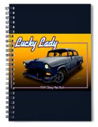 Tri-5 Chevy Rat Rod Lucky Lady Spiral Notebook