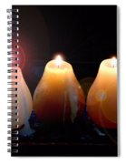 Tri Candles Spiral Notebook