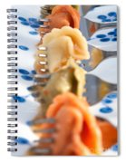 Tri Color Tortellini In Row Spiral Notebook