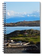 Trial Island And The Strait Of Juan De Fuca Spiral Notebook