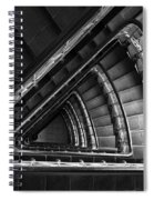 Triangle Staircaise In Bw Spiral Notebook