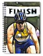 Triathalon Competitor Spiral Notebook