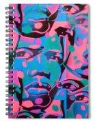 Tribal Graffiti Faces Spiral Notebook