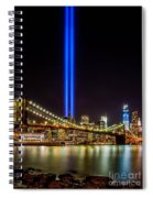Tribute Lights From Brooklyn Spiral Notebook