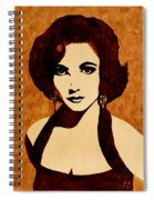 Tribute To Elizabeth Taylor Coffee Painting Spiral Notebook