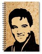 Tribute To Elvis Presley Spiral Notebook