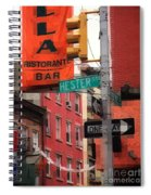 Tribute To Little Italy - Hester And Mulberry Sts - N Y Spiral Notebook