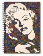 Tribute To Marilyn Monroe Spiral Notebook