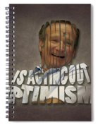 Tribute To Robin Williams Typography Spiral Notebook