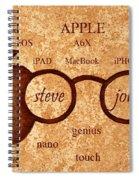 Tribute To Steve Jobs 2 Digital Art Spiral Notebook