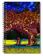 Triceratops Painting Spiral Notebook