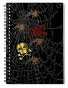 Trick Or Treat Halloween Digital Artwork Spiral Notebook