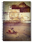 Tricycle In Abandoned Room Spiral Notebook
