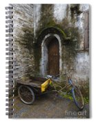 Tricycle Parked In Alleyway Spiral Notebook