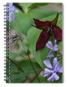 Trillium And Phlox Spiral Notebook