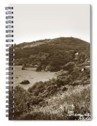 Trinidad Memorial Lighthouse And Fog Bell With Trinidad Head Circa 1948 Spiral Notebook