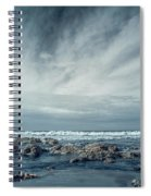 Trinidad State Beach In Infrared Spiral Notebook