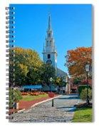 Trinity Church In Queen Anne Square In Newport Spiral Notebook