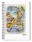 Trinity Episcopal Church In The Snow - Shepherdstown  Spiral Notebook