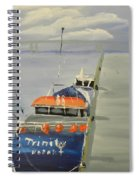Trinity Long Line Fishing Trawler At San Remo  Spiral Notebook