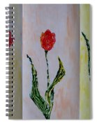 Trio Of  Red Tulips Spiral Notebook