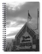Triple Crown Diner In Black And White Spiral Notebook
