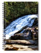 Triple Falls II Spiral Notebook