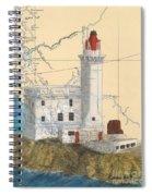 Triple Islands Lighthouse Bc Canada Chart Art Spiral Notebook