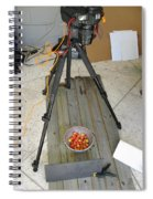 Tripod And Cherries On Floor Spiral Notebook