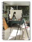 Tripods And Set Up Spiral Notebook