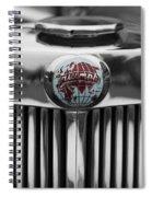 Triumph Roadster Emblem Selective Color Spiral Notebook